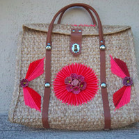 Vintage 1960s Souvenir Handbag from Mexico by GodSaveStrawberryJam
