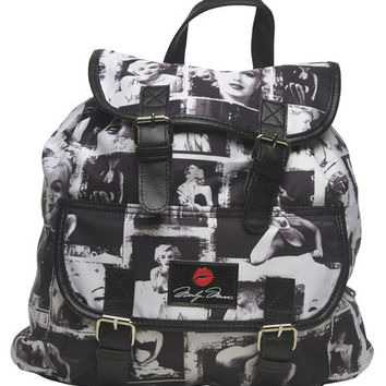 Marilyn Monroe Print Backpack | Wet Seal