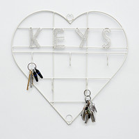 Wire Keys holder in White - Urban Outfitters