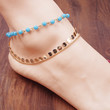 Hand-beaded sequins anklet