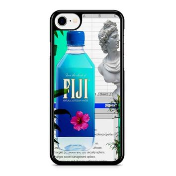 Fiji Water Vaporwave iPhone 8 Case