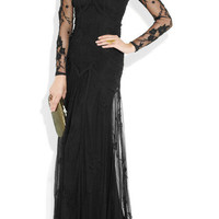 Temperley London | Tattoo appliquéd tulle gown | NET-A-PORTER.COM