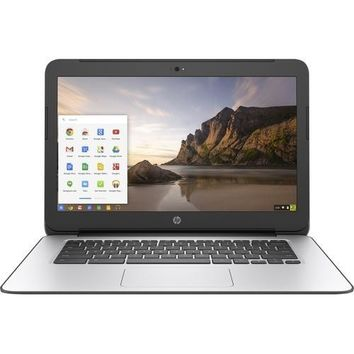 HP Chromebook 14 G4 14 LCD Chromebook - Intel Celeron N2840 Dual-core (2 Core) 2.16 GHz - 4 GB DDR3L SDRAM - 16 GB SSD - Chrome OS (English) - 1366 x 768 - Intel HD Graphics DDR3L SDRAM - Bluetooth - English Keyboard - Front Camera/Webcam - IEEE 802.11a/