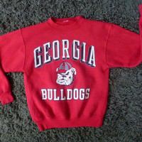 Georgia Bulldogs sweatshirt 1980s vintage - red size large