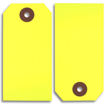 Fluorescent Yellow Paper Tags