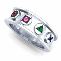Gamer Ring  Nintendo, Play Station Wedding Band
