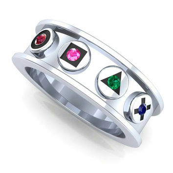 gamer ring nintendo play station wedding band - Gamer Wedding Rings