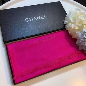 LMFON Best Online Sale Chanel Keep Warm Scarf Smooth Skin-friendly Scarves velvet Shawl #1