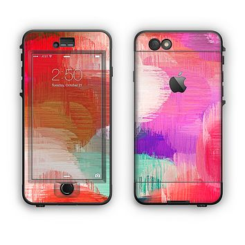 The Faded Neon Painted Hearts Apple iPhone 6 Plus LifeProof Nuud Case Skin Set