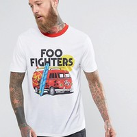 ASOS Foo Fighters Band Relaxed T-Shirt With Retro Ringer at asos.com