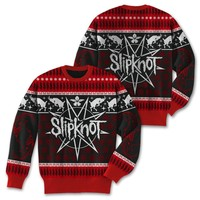 Slipknot Holiday Goat - Womens Black/Red Sweater