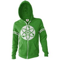 The Big Bang Theory Atom Zip Front Hoodie, Large