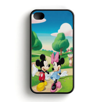 Mickey Mouse And Minnie Mouse Cute Couple Cartoon iPhone 4|4S Case