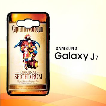 Captain Morgan Original Spiced Rum L2150 Samsung Galaxy J7 Edition 2015 SM-J700 Case