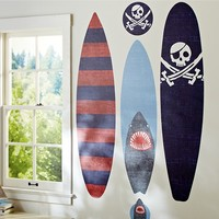 Blue Surfboard Decal Set