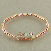 Rose Gold Bow Bracelet from Her Vanity Affair