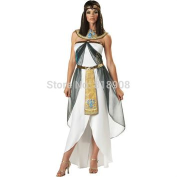 Halloween Costume Greek Goddess women clothing dress party COS dress Cleopatra costume The Arab woman whitevestidos femininos