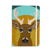 "Art Love Passion ""Stag in Grass"" Yellow Blue Everything Notebook"