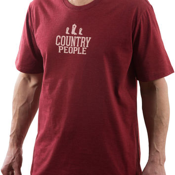 Country People - Red Unisex T-Shirt
