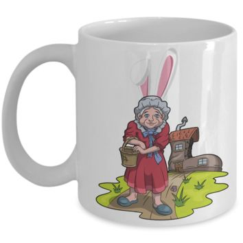 Fun Kid Easter Bunny Ears Grimm Story Mug Cup For Children White Bpa Free Chocolate Cookies Jar Coloring Marker Holder Drink Mugs For Cocoa Milk Juice Best Affordable Holiday Gift For Kids 2017 2018