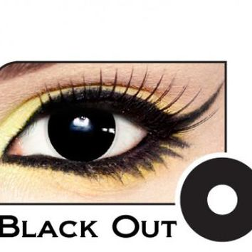 Black out Halloween contact lenses