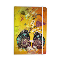 "alyZen Moonshadow ""Birds In Love Yellow"" Orange Gold Everything Notebook"