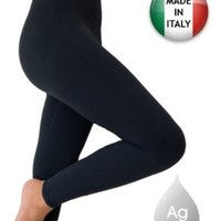 Anti cellulite slimming leggings (Fuseaux) + silver - Black size M