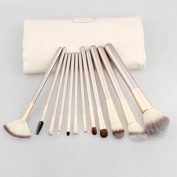 24-pcs Champagne Color Postma Beige Make-up Brush Set = 5858190785