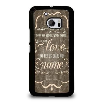 THE AVETT BROTHERS QUOTES  HTC One M10 Case Cover