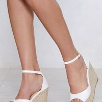 Sunny Afternoon Espadrille Wedge Sandal