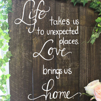 Rustic Wooden Wedding Sign Xl Personalized For You