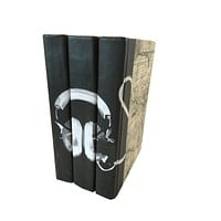 Headphones Decorative Books