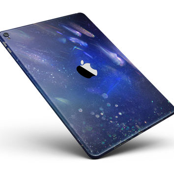 """Deep Blue Unfocused Scratches Full Body Skin for the iPad Pro (12.9"""" or 9.7"""" available)"""