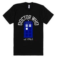 Doctor Who TARDIS Shirt (Dark)-Unisex Black T-Shirt