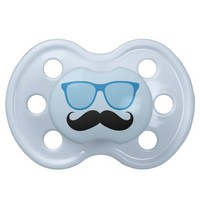 Blue Sunglasses Mustache Baby Pacifier from Zazzle.com
