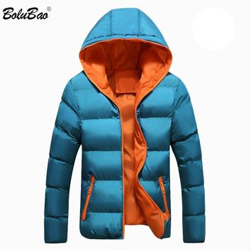 BOLUBAO Men Casual Hooded Parka Winter Mens Women Couple Cotton Slim Fit Coat Thick Warm Homme's Parka Hooded Outwear