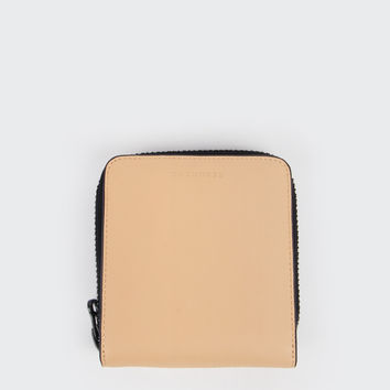 Mini Block Wallet - vegetable tan