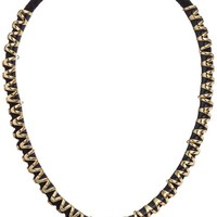 nOir Jewelry Gold and Black Gelato Necklace