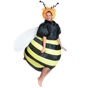 Adult bee Inflatable Costume Adult Fancy Dress Suit Party cloth party costume for adult Christmas Xmas Funny deguisement adultes