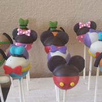 12 mickey mouse clubhouse cake pops