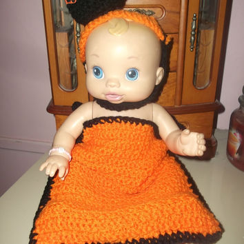 Cute Halloween Pumpkin You Will Ever See Orange and Black Crochet Pumpkin Baby Cocoon With Hat Free Shipping CIJ Coupon Costume Photo Prop