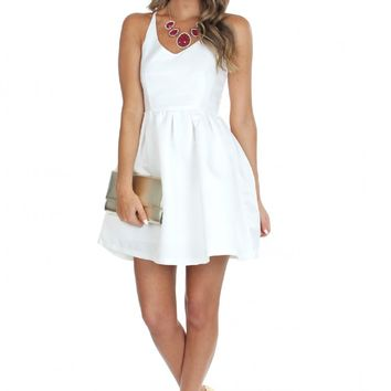 White Flare Party Dress