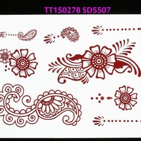 Designs indian wedding party henna temporary tatto