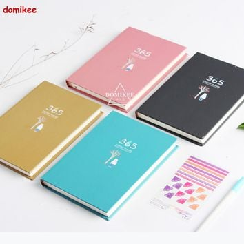 Cute cartoon fitted 365 days time personal planner agenda organizer notebooks stationery,planner notebooks without date