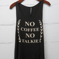 No Coffee No Talkie Tank-Black
