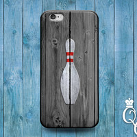 iPhone 4 4s 5 5s 5c 6 6s plus iPod Touch 4th 5th 6th Generation Cute Wood Custom Phone Case Fun Bowling Pin Bowl Ball Grey White Sport Cover