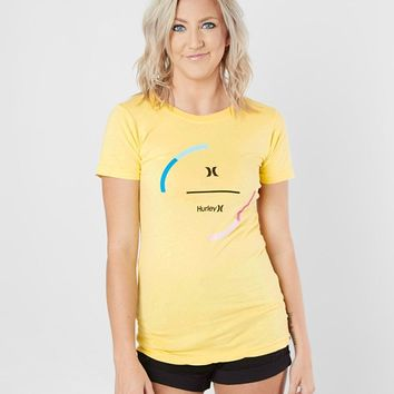 Hurley Break It T-Shirt - Women's T-Shirts in Pale Yellow | Buckle