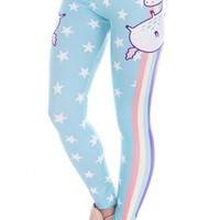 Unicorn Stars Printing Cozy Legging