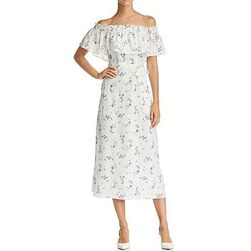 Francine Off Shoulder Silk Dress