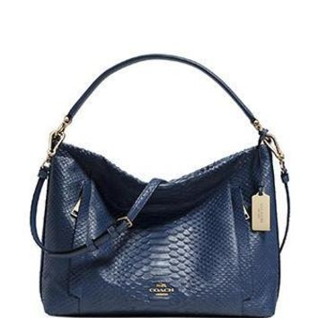 Coach Scout Hobo Bag in Python Embossed Leather